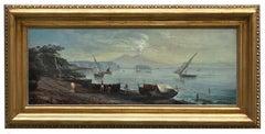 NAPLES - Ettore Ferrante Italian Landscape Oil on Canvas Painting