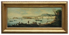 NAPLES - Italian landscape oil on canvas painting by Ettore Ferrante