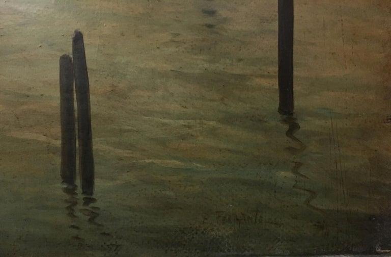 NAPLES - Italian landscape oil on canvas painting, Ettore Ferrante For Sale 2