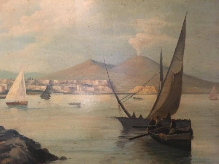 NAPLES - Italian landscape oil on canvas painting, Ettore Ferrante For Sale 3