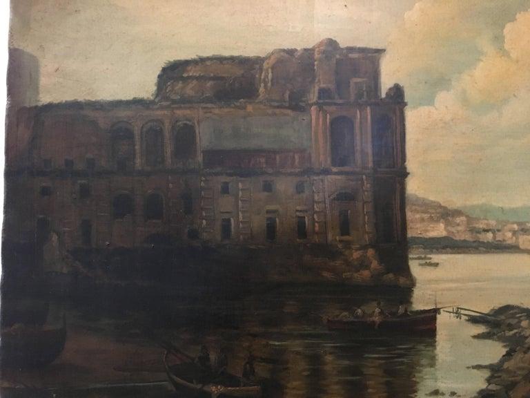 NAPLES - Italian landscape oil on canvas painting, Ettore Ferrante For Sale 4