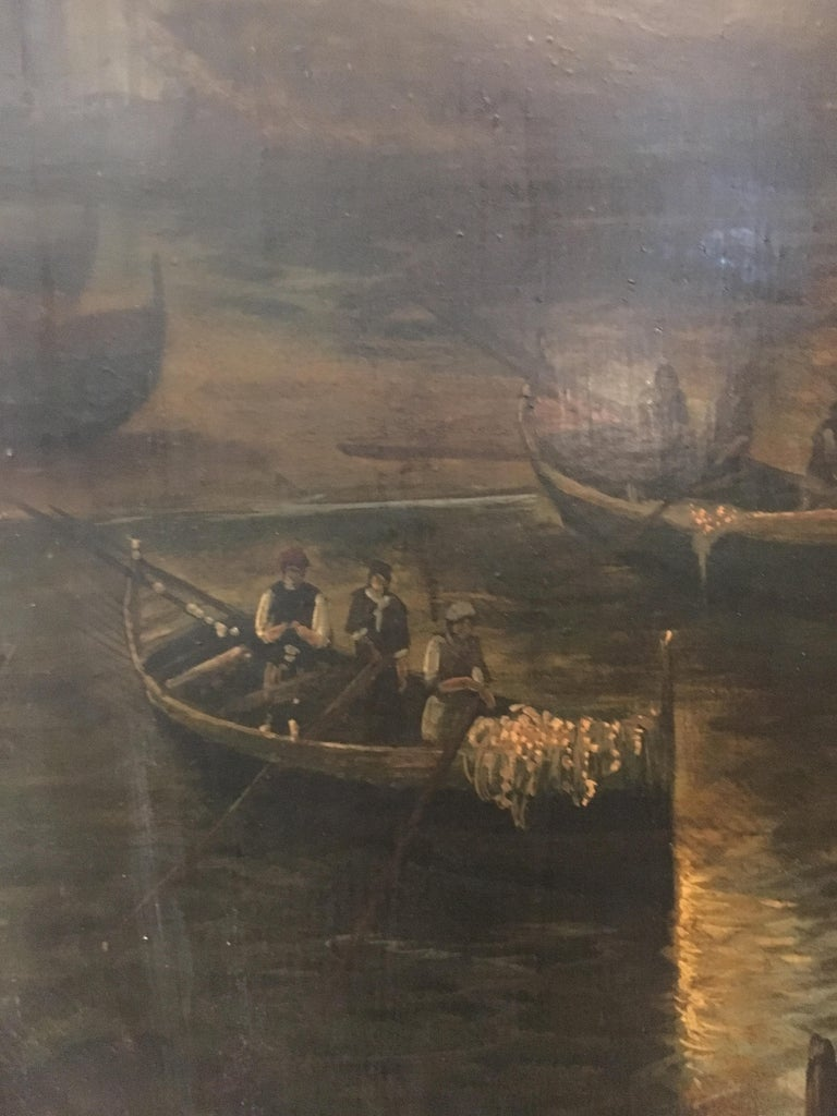 NAPLES - Italian landscape oil on canvas painting, Ettore Ferrante For Sale 5