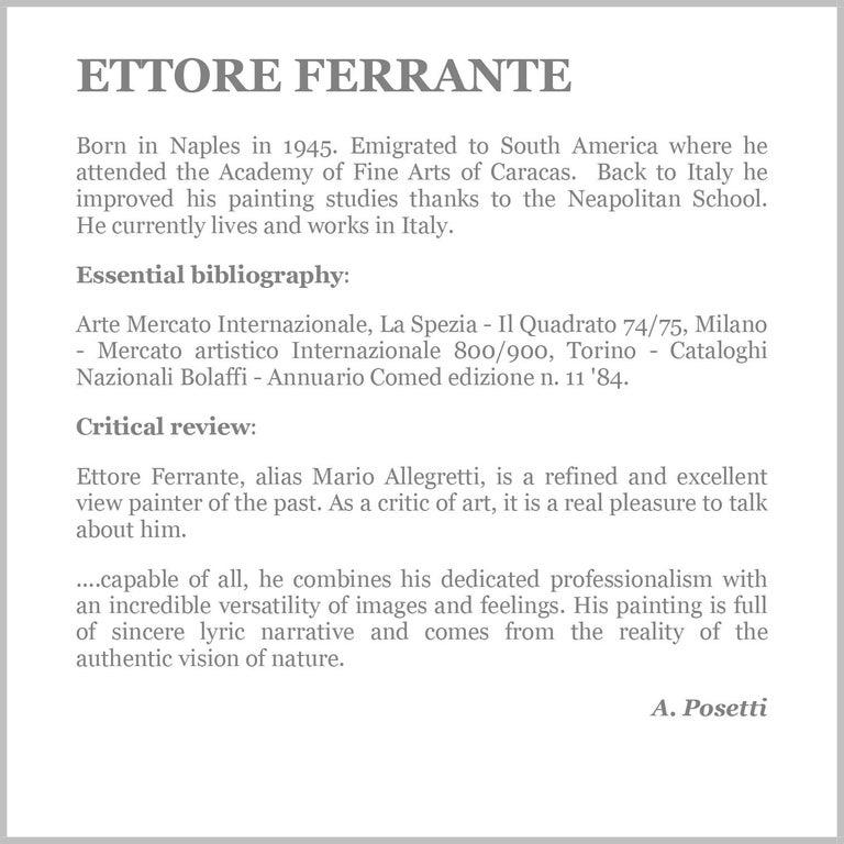 NAPLES - Italian landscape oil on canvas painting, Ettore Ferrante For Sale 6
