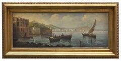 NAPLES - Posillipo School -Italian Landscape Oil on Canvas Paintings