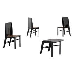 Ettore Sotssass Set of 4 Laurelia Chairs from Salmistrato