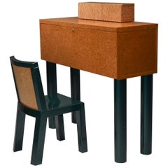 Ettore Sottsass and Marco Zannini Donau Writing Desk and Chair