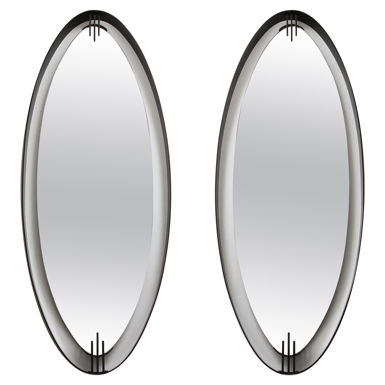 Ettore Sottsass Attributed Modernist Italian Mirror