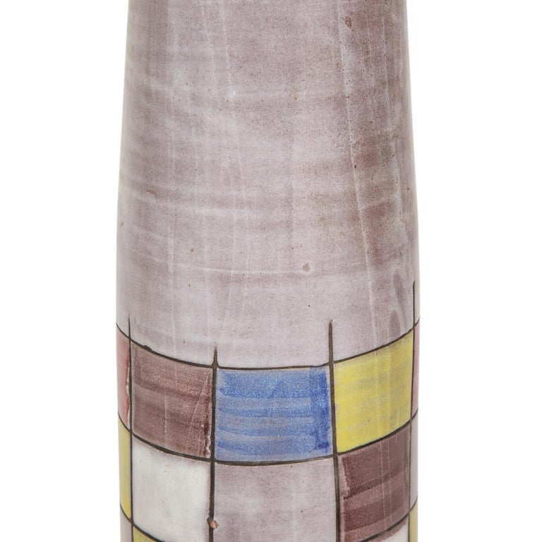 Ettore Sottsass Bitossi for Raymor Lamps, Ceramic, Patchwork, Signed For Sale 8