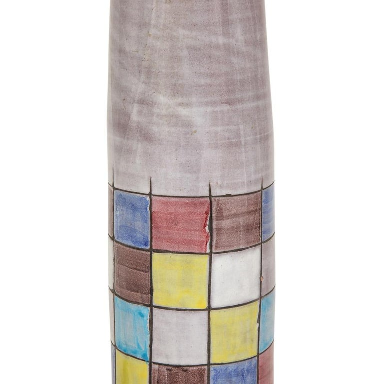 Ettore Sottsass Bitossi for Raymor Lamps, Ceramic, Patchwork, Signed For Sale 1