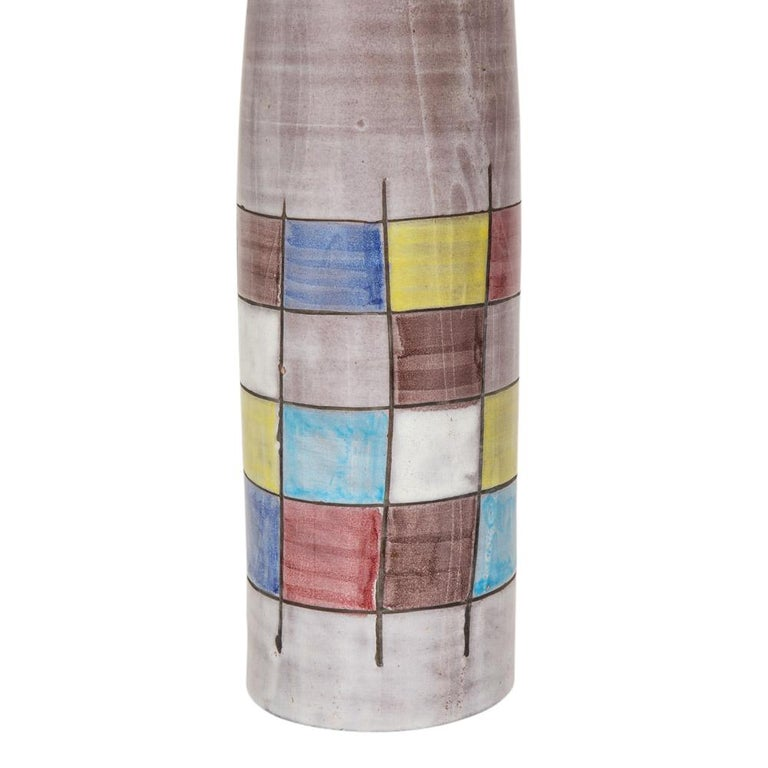 Ettore Sottsass Bitossi for Raymor Lamps, Ceramic, Patchwork, Signed For Sale 2