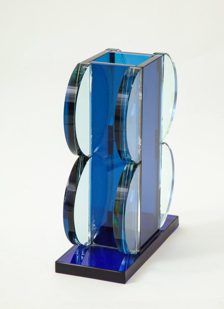 Art Glass Ettore Sottsass for Fontana Arte Vase Model 2664 For Sale