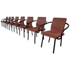 Ettore Sottsass for Knoll Mandarin Armchairs, Set of Eight
