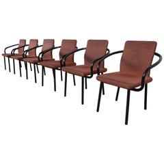 Ettore Sottsass for Knoll Mandarin Armchairs, Set of Six