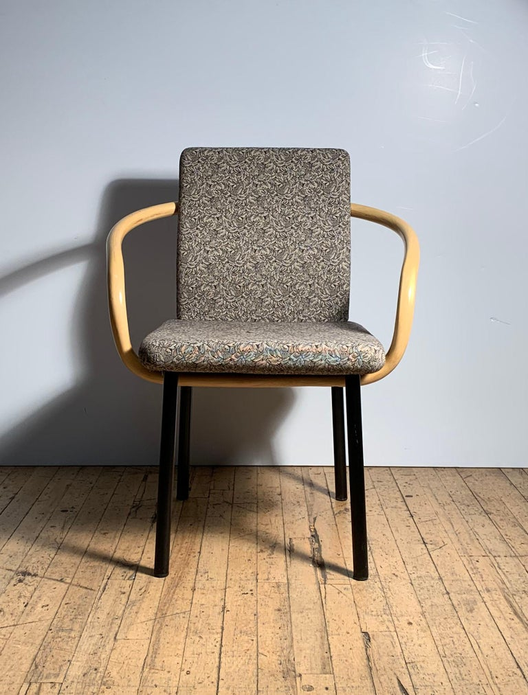 Ettore Sottsass for Knoll Mandarin chairs, rare bamboo arms, 5 available  Priced per single chair.