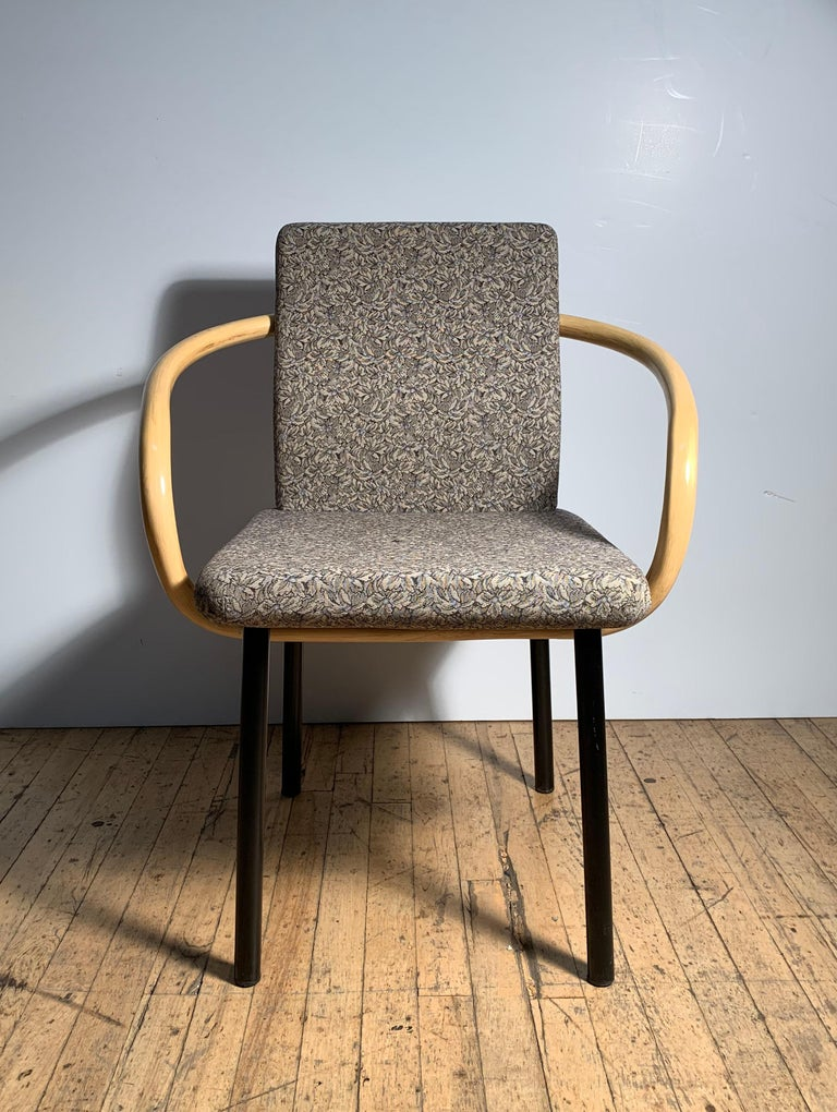 Ettore Sottsass for Knoll Mandarin Chairs, Scarce Bamboo Arms In Good Condition For Sale In Chicago, IL