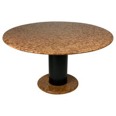 Ettore Sottsass for Poltronova Midcentury Italian Loto Rosso Round Marble Table