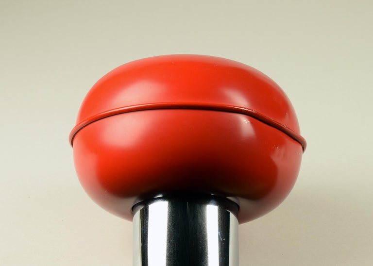 Ettore Sottsass for Stilnovo, 'Manifesto' Ceiling Lamp 1970, Longest Red Version In Good Condition For Sale In London, GB