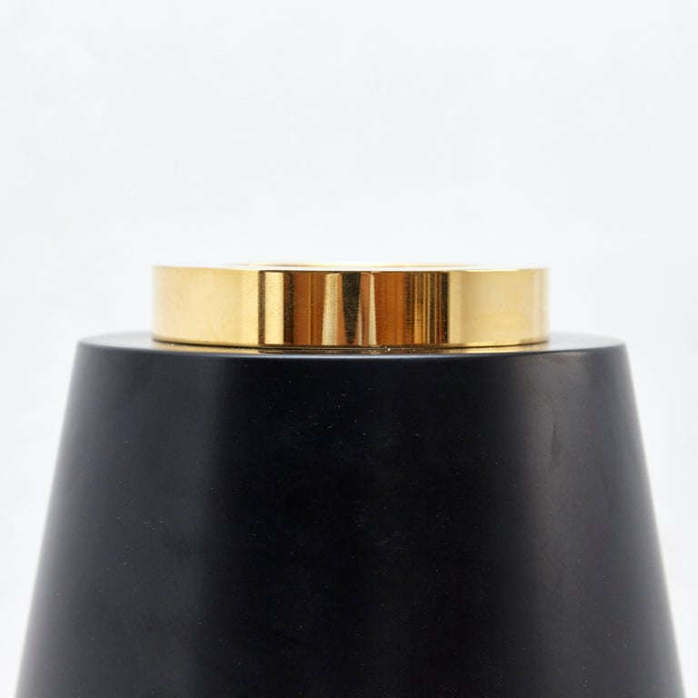 Late 20th Century Ettore Sottsass I Limited Edition Vase in Wood and Murano Glass for Flowers For Sale