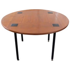 Ettore Sottsass Jr. for Poltronova, Rare Round Mahogany Dining Table, 1956