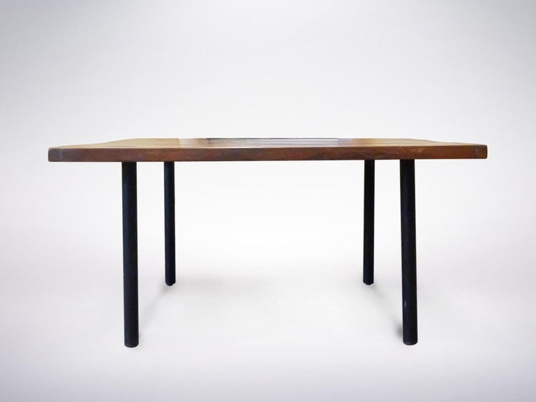 Mid-Century Modern Ettore Sottsass Jr. for Poltronova, Rosewood Square Coffee Table, 1958 For Sale