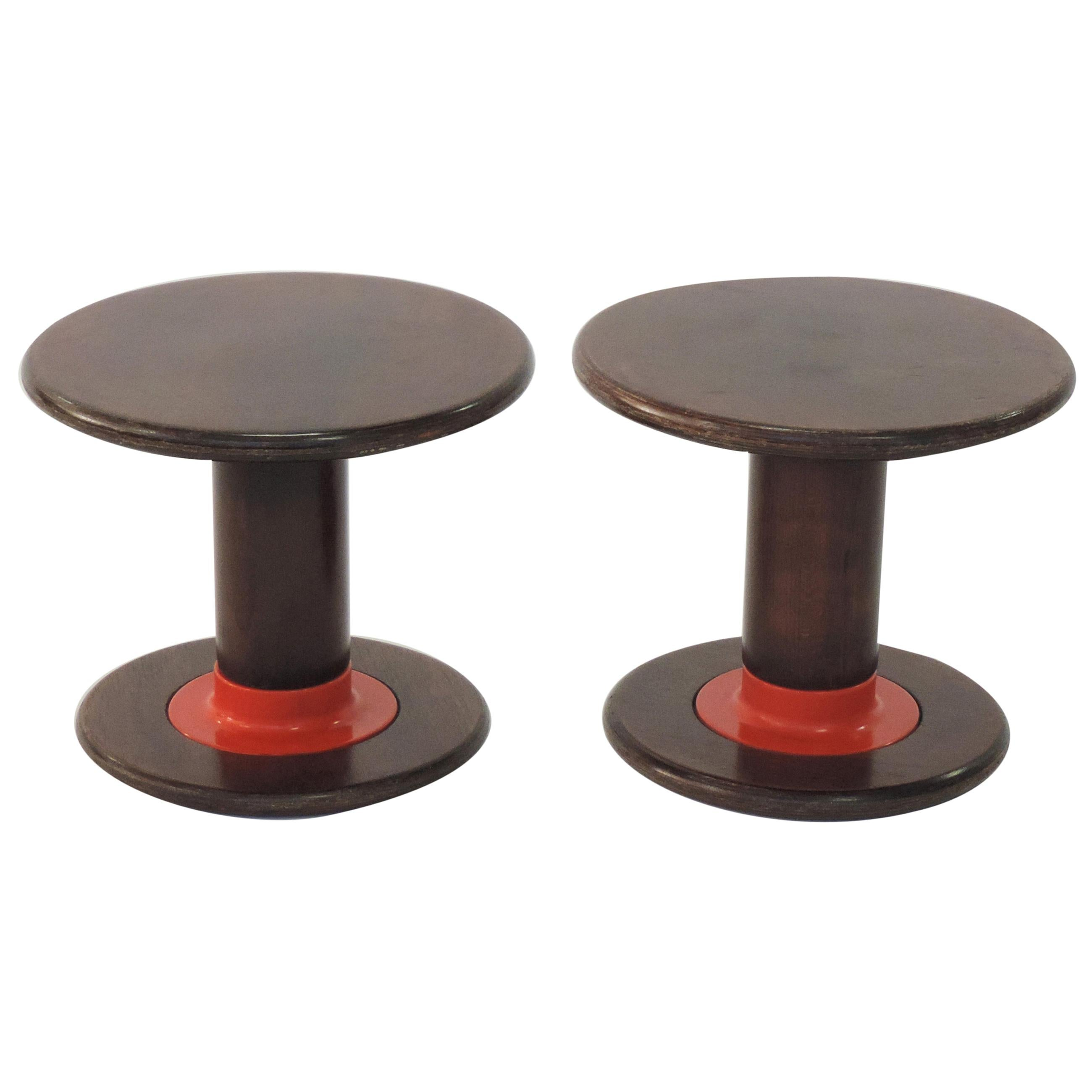 Ettore Sottsass Jr. Pair of Rocchettone Side Tables for Poltronova, Italy, 1964