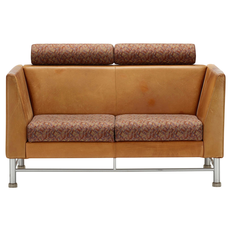 Groovy Ettore Sottsass Knoll Cognac Leather 2 Seat Eastside Sofa Uwap Interior Chair Design Uwaporg