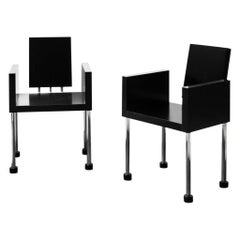 """Ettore Sottsass, """"Miss, Don't You like Caviar?"""" Pair of Chairs"""