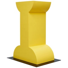 Ettore Sottsass Missionario Yellow Memphis Pedestal by Design Gallery Milano, 92