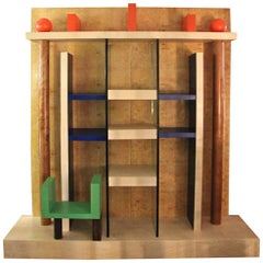 Ettore Sottsass, Naomi Bookcase, Wood Lacquered, circa 1984, Italy