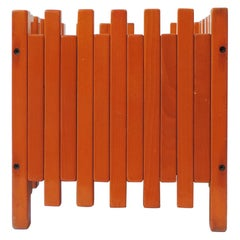 Ettore Sottsass Orange Stained Wood Planter for Poltronova, Italy, 1961