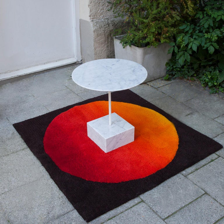 Primavera coffee table model in white marble, designed by Ettore Sottsass and produced by Ultime Edizioni, circa 1980.