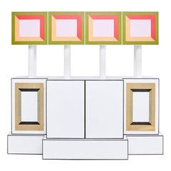 Ettore Sottsass Rare Limited Edition Piccoli Libri Cabinet, 1992