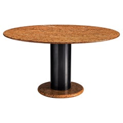 Ettore Sottsass Red Marble Pedestal Dining Table
