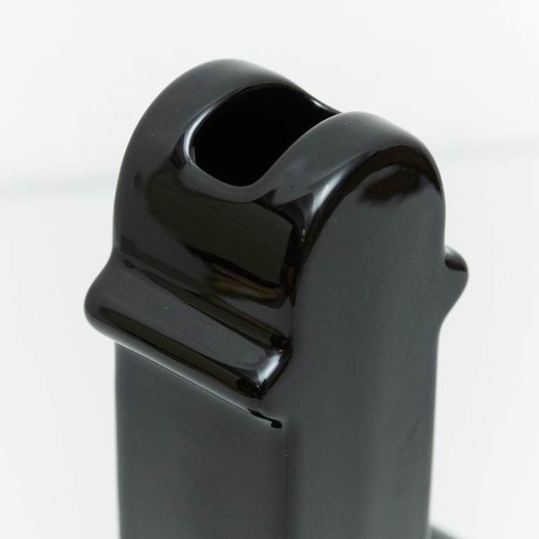 Contemporary Ettore Sottsass Shiva Limited Edition Black Prototype 2/8 For Sale