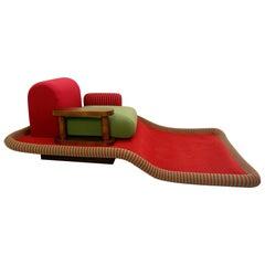 "Ettore Sottsass ""Tappeto Volante"" Armchair for Bedding Brevetti, Italy, 1974"