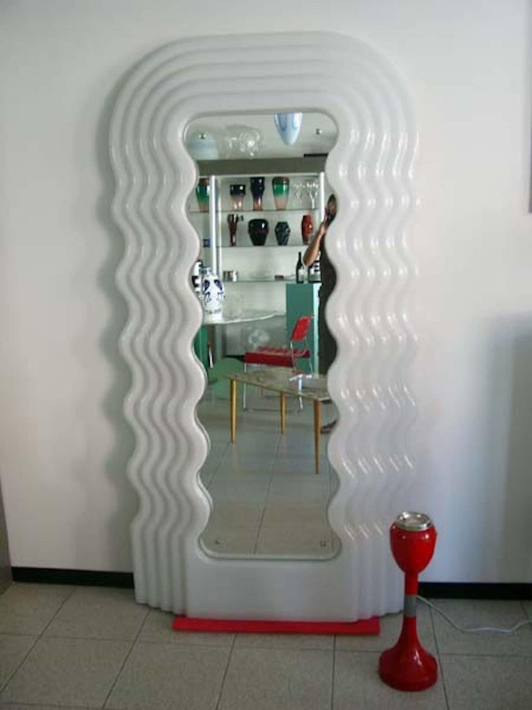 Italian Ettore Sottsass Ultrafragola Mirror Prod, Poltronova, Italy For Sale