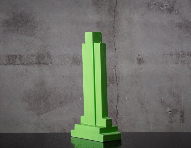 Italy: Ettore Sottsass vase from Yanta Series, Model Y15; Bitossi for Design Centre, 1968.