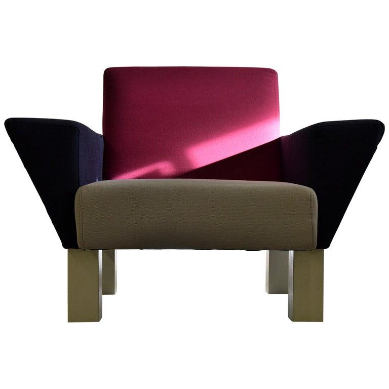 Prime Ettore Sottsass West Side Lounge Chair At 1Stdibs Creativecarmelina Interior Chair Design Creativecarmelinacom