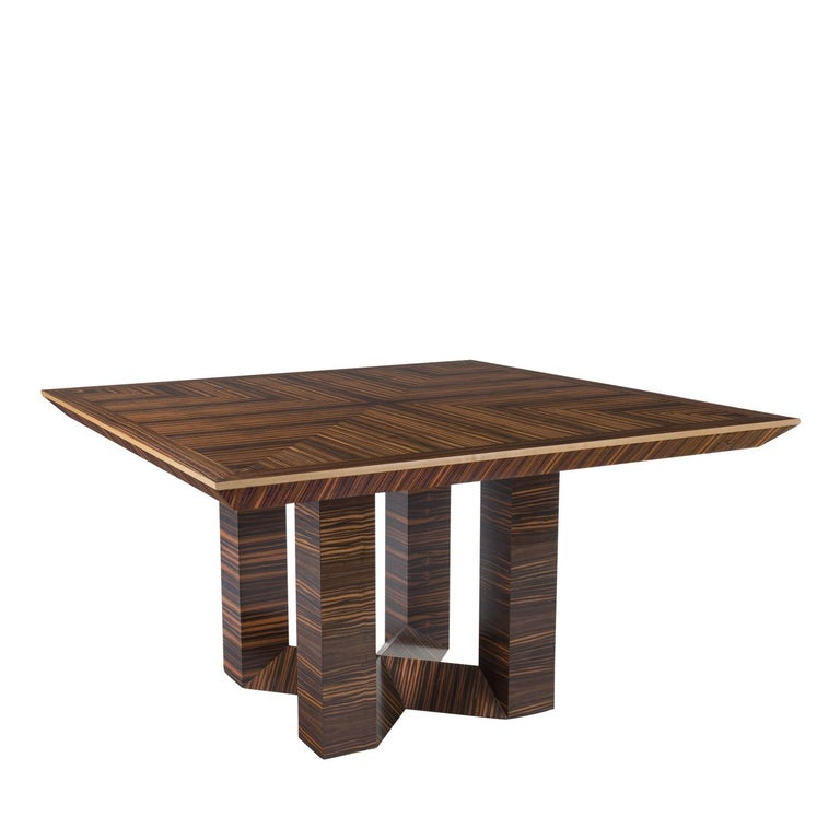 Mid-Century Modern Ettore Square Table For Sale