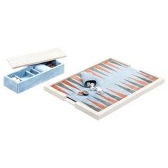 Ettore Travertino Marble Backgammon Board