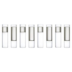 EU Clients 8 Contemporary Minimal Clear Champagne Flute Glasses Czech in Stock