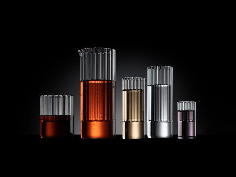 Czech EU Clients, 'Flight' Tall Collins Glass Set, Designer Handmade Glassware For Sale