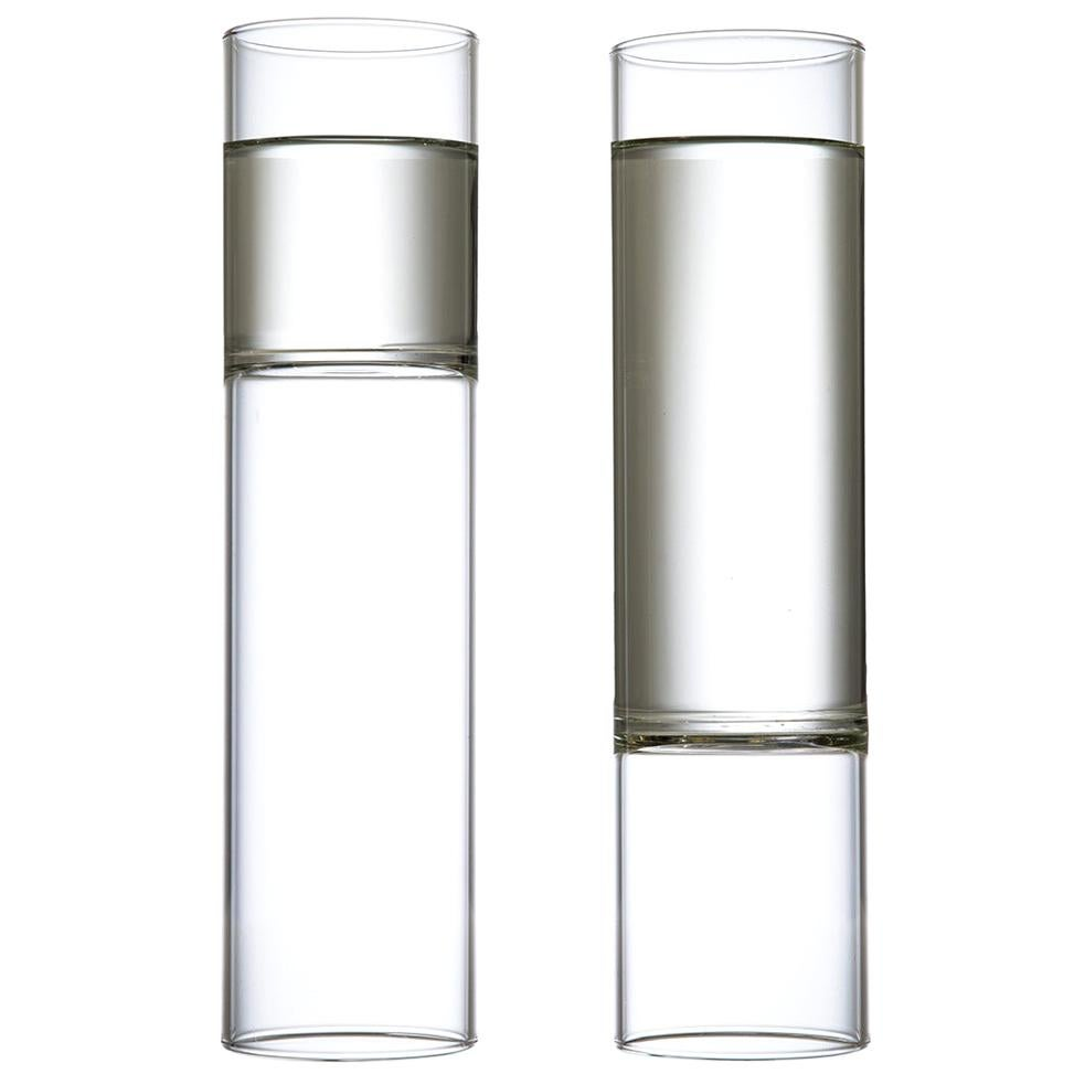 EU Clients Minimal Champagne Flute Glasses Handmade Czech in Stock Pair