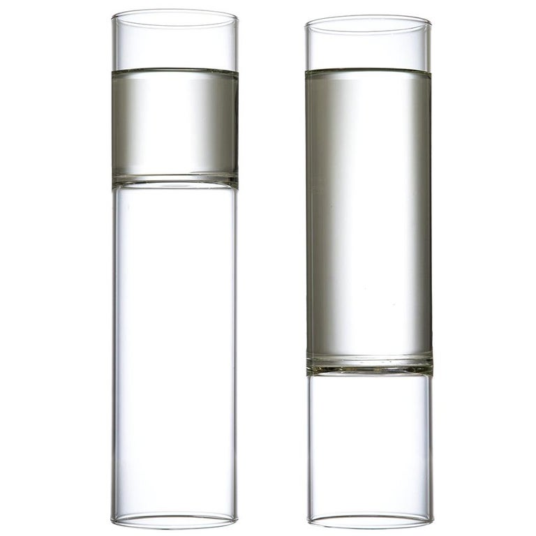 EU Clients Minimal Champagne Flute Glasses Handmade Czech in Stock Pair For Sale