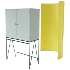 Eucalyptus and Deep Green Color Play Storage Drinks Cabinet