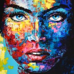 *G* ORIGINAL 945 PORTRAIT, Painting, Acrylic on Canvas