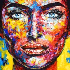 ORIGINAL 937 PORTRAIT, Painting, Acrylic on Canvas
