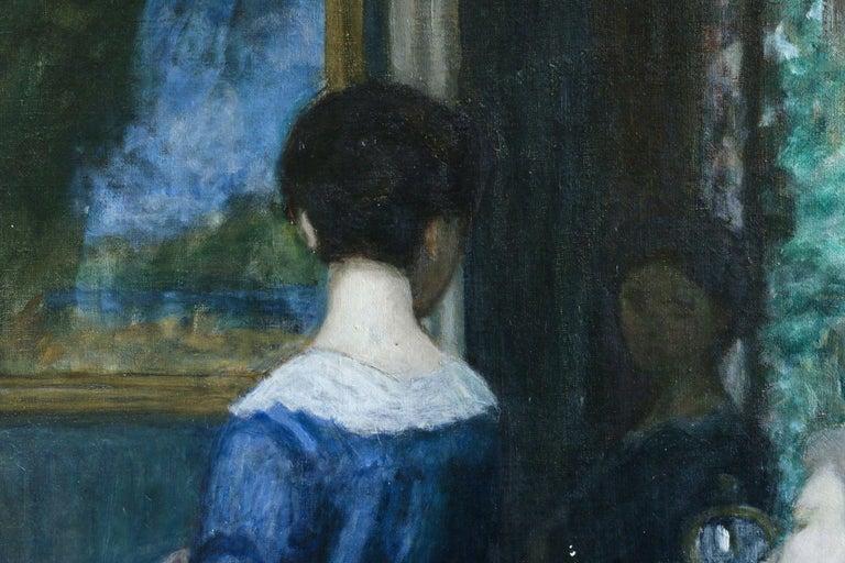 La Robe Bleue - Painting by Eugene Antoine Durenne