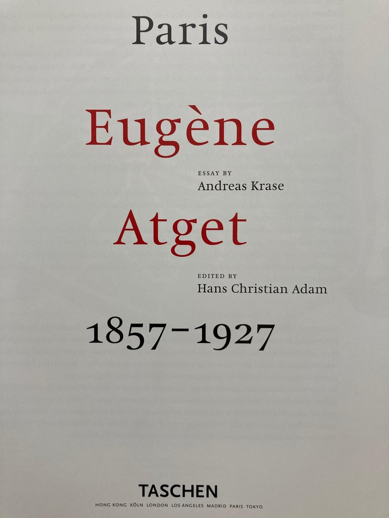 Eugène Atget Paris Hardcover Photo Book For Sale 5