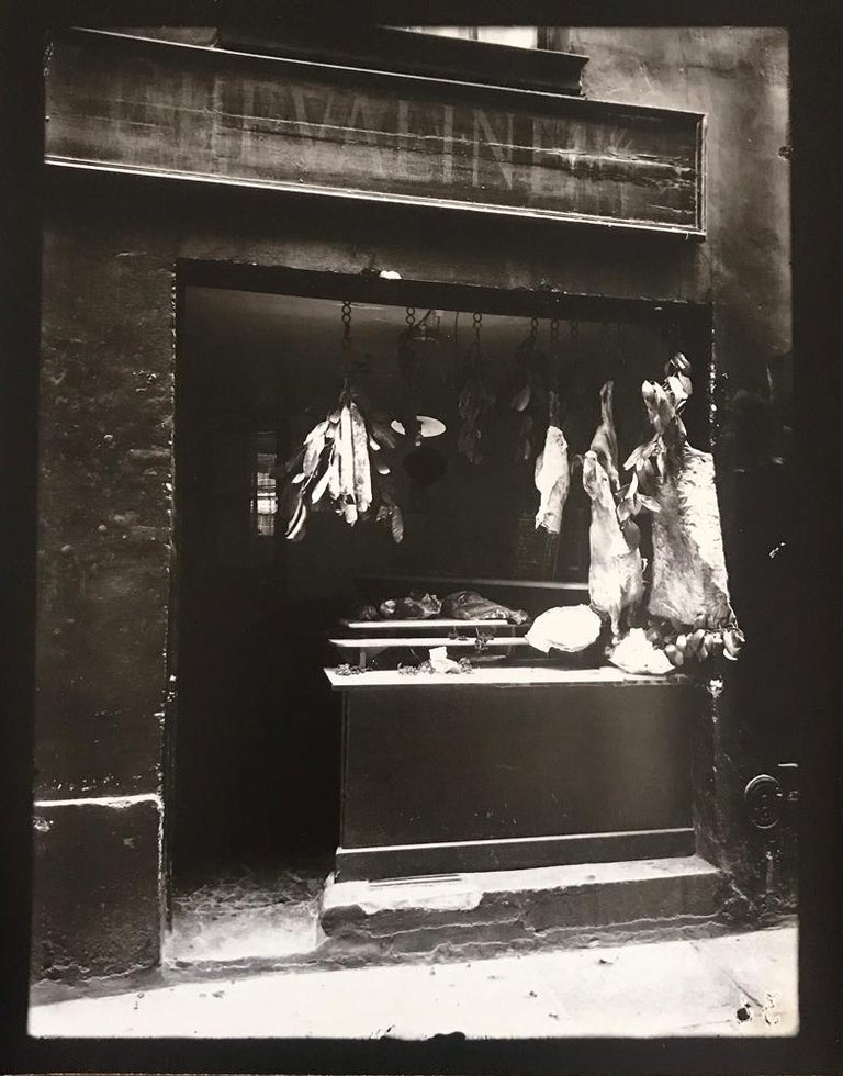 eug ne atget boucherie rue christine by eugene atget printed by berenice abbott photograph. Black Bedroom Furniture Sets. Home Design Ideas